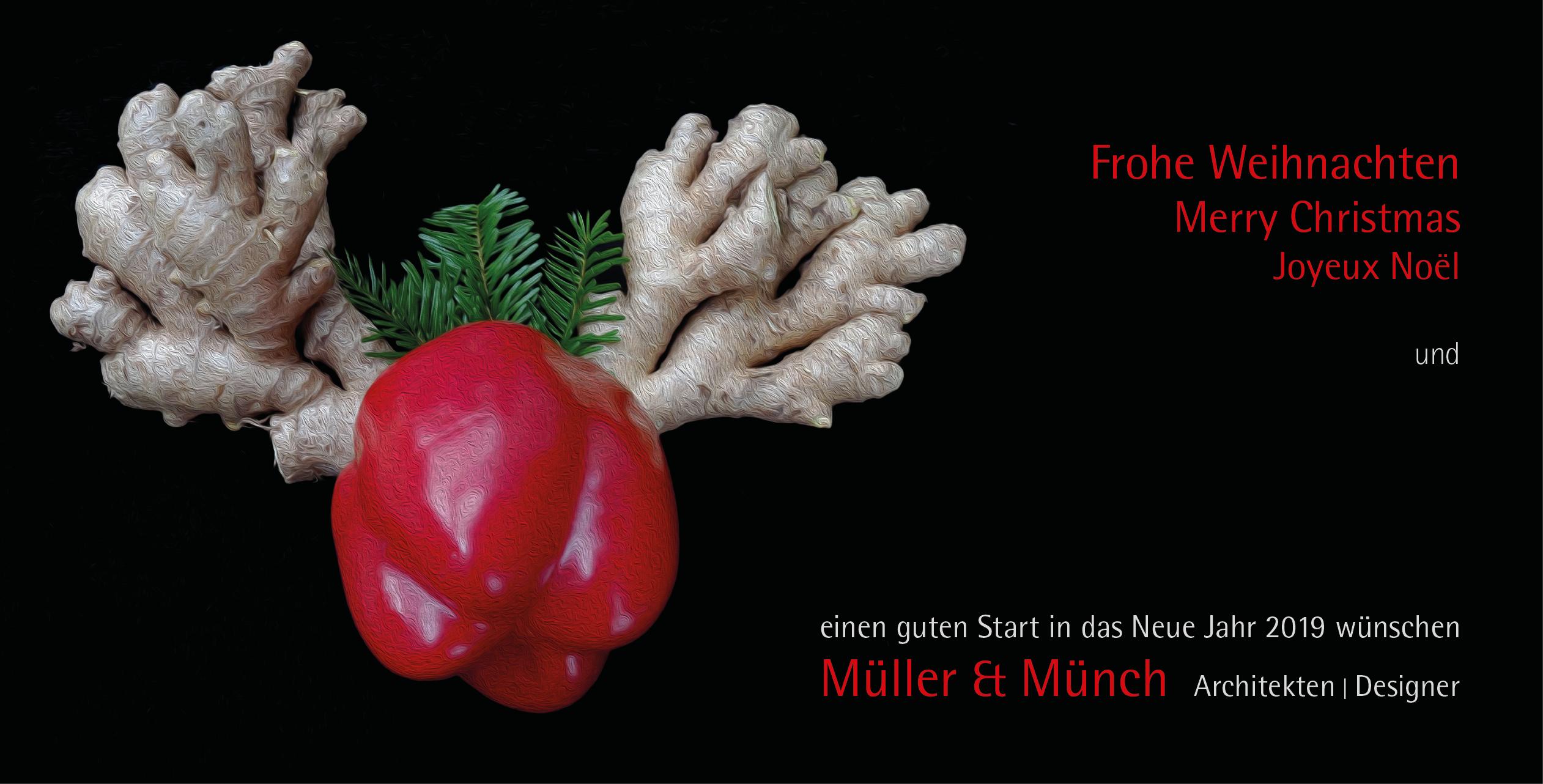 Alles Gute Zum Weihnachten.Frohe Weihnachten Und Alles Gute Fur 2019 Muller Munch