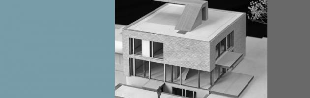 Modellfoto Einfamilienhaus Holzbau